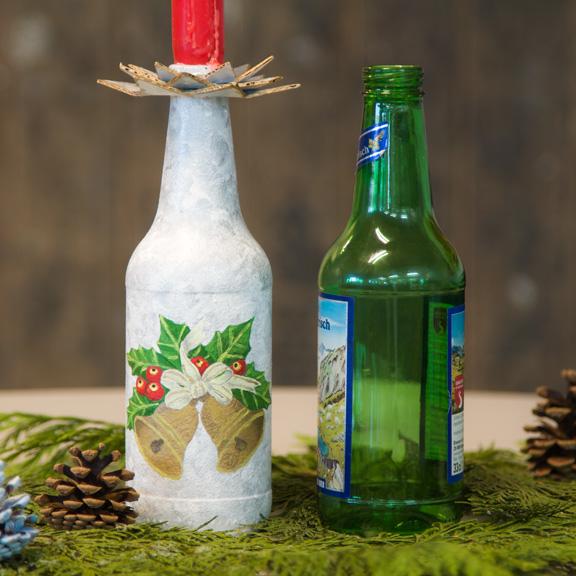 Von der Bierflasche zum Kerzenst&aauml;nder