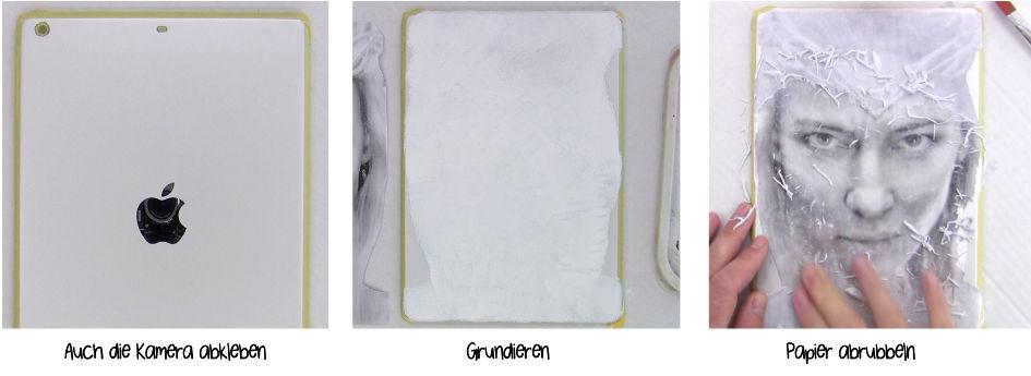 Verzierung malen auf das iPad & iPhone – abkleben, grundieren & Malvorlage übertragen