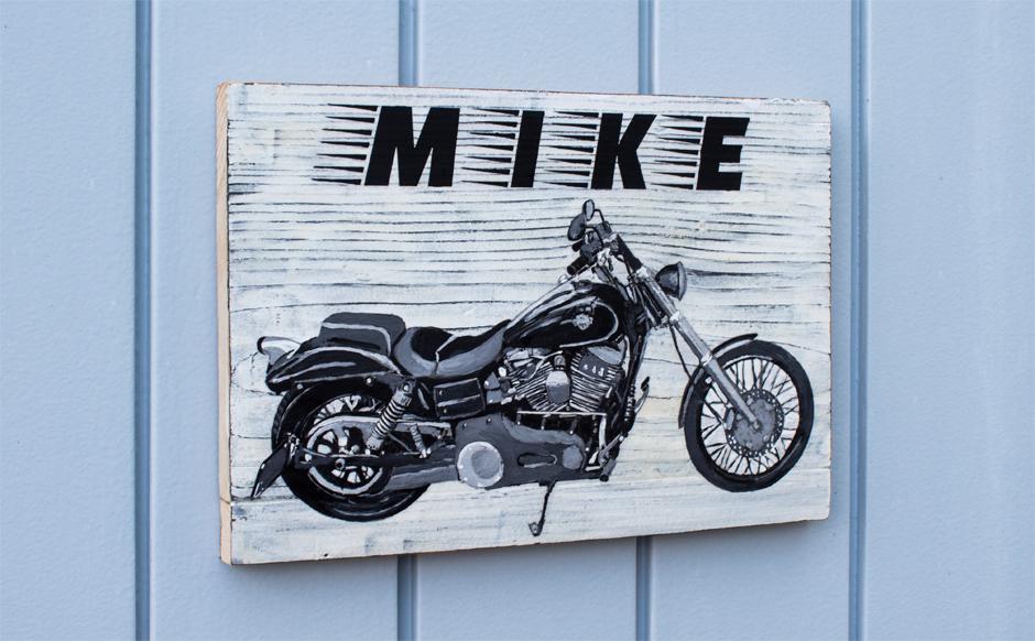 Unser Geschenk für Töfffahrer Mike ist fertig