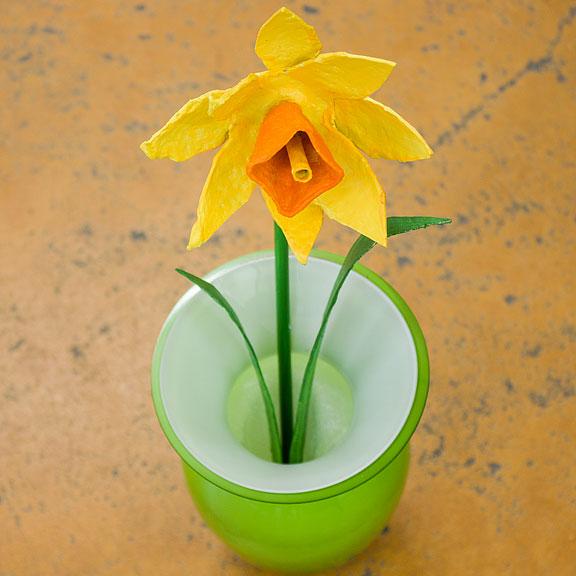 Gebastelte Blumen als Frühlingsdeko