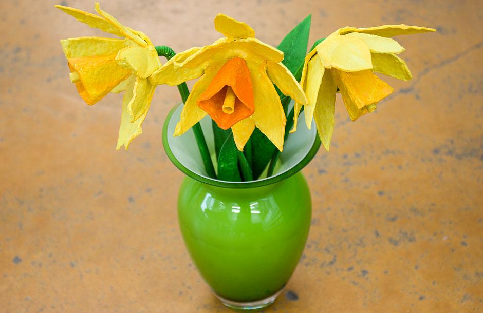 Frühlinsdeko-Idee: Osterglocken basteln